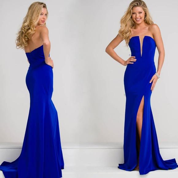 388daf60e3ec Jovani Dresses   Royal Blue Strapless Gown Size 4 Nwt   Poshmark